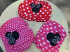 Girls Toddler Handmade Minnie Mouse Bloomers Set Of 3 Bright In Variouse Colors.