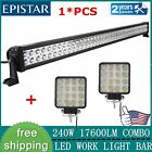 42inch 240W LED Work Light Bar Spot Flood Offroad SUV 4X4 Truck+2X48W LED LIGTHS