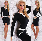 Sexy Women's Business Dress Long Sleeve Stretch Leisure Party Dress Black