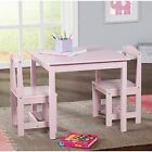 Study Small Table and Chair Set Generic 3 Piece Wood Toddler Kids Furniture