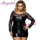 Slocyclub Women Black Long Sleeve Lacie Boatneck Babydoll