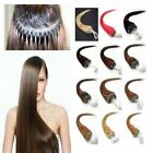 """100S/200S 22"""" Loop Micro Rings 100% Real Remy Human Hair Extension Straight Long"""