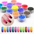 Thermochromic Pigment Thermal Color Change Temperature Nail Art Powder 12 Colors