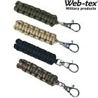 ARMY TACTICAL ZIP PULLER PARACORD x2 PACK 90cm PARA CORD METAL CLIP CLOTHING