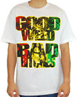 Mafioso Men's Good Weed T Shirt White   Gangster boarding Clothing Apparel