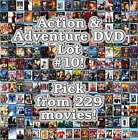 Action & Adventure DVD Lot #10: 229 Movies to Pick From! Buy Multiple And Save! $3.95 CAD