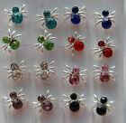 Spiders studs earrings in 8 different colours + free stoppers