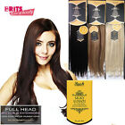 """Rush Silky Luxati 8pcs Clip In Full Head Remy 100% Human Hair Extension 14""""-22"""""""
