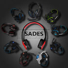 Sades Stereo 7.1 Surround  Gaming Headsets USB Headband W/ mic for PC Laptop