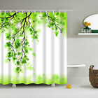 Stylish Design Solid Polyester Bathroom Shower Curtain Waterproof With Hooks New