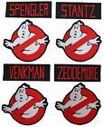 Ghostbusters Names and No Ghost Logos Set of 8 Embroidered Patches