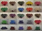 Opaque Dice Dotted 12x 12mm D6 Red Blue Green Black Purple White Brown Mist Gold