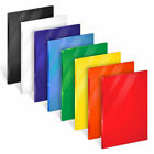 Acrylic Sheets 3mm Thick - Bright Colour Perspex Panel Displays in A6 A5 A4 & A3