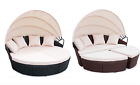 Rattan Outdoor Garden Bali Day Bed Patio Sun Lounge In Black Or Brown