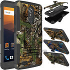 For ZTE Max XL/N9560 Phone Case Shockproof Hybrid Armor Holster Rubber TPU Cover