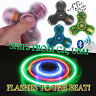 Crystal Bluetooth Fidget Hand Spinner Plays Music Charger Cable EDC Gyro Toy USA