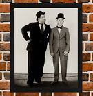 Framed Laurel and Hardy Movie Poster A4 / A3 Size In Black / White Frame (Ref-1)
