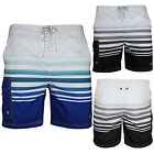 South Shore Mens Designer Madka Swim Shorts Adults New Faded Stripe Beach Trunks
