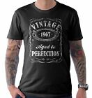 Vintage Aged to Perfection 1967 50th Birthday Present T Shirt 50 Years Old Gift