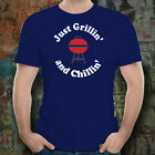 BBQ Shirt - Just Grillin' and Chillin' - Unisex Tee - Barbeque Barbecue Gift