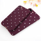 For iPhone 6 7 Plus Silicone Polka Dot Soft TPU Slim Shockproof Case Cover E0046