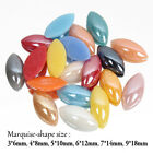 Mix color Ceramic Beads Half Horse eye Pearl 3X6mm-7X14mm 5Sizes Flatback Stones