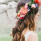 Women Wedding Boho Flower Hair Garland Crown Headband Floral Wreath Hairband