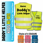 Daddy's Little Helper Kids,Childs Hi-Vis Safety Vest Jacket High Visibility Viz