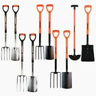 GARDEN SHOVEL BORDER EDGING FARM CARBON STAINLESS STEEL TOOLS SPADE FORK DIGGING