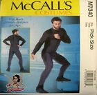 McCalls Sewing Pattern 7340 Mens 46-52 Bodysuit Jumpsuit Cosplay Costume