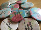 Personalised Floral Hen Party Badges Accessory Bride Night Do to Be Vintage Maid