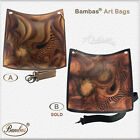 Designer Bambas Art Handbag Hand Painted Engraved Shoulder Leather Tote Buckets
