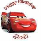 "LIGHTNING MCQUEEN CARS 3 2017 ROUND 7.5""  CAKE TOPPER ICING OR RICEPAPER"