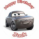 "STERLING CARS 3 2017 ROUND 7.5""  CAKE TOPPER ICING OR RICEPAPER"