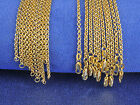 Wholesale 5PC Fashion Jewelry 18K Gold Filled Cross Necklaces Chains For Pendant