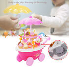 New Kitchen Toys Mini Candy Ice Cream Stroller Car Toy for Little Kids Gifts