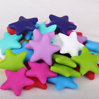 50Pcs Star Silicone Beads Teething Necklace Pendent Baby Teether Making BPA Free