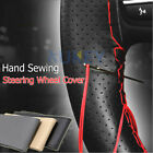 DIY PU Leather Car Auto Steering Wheel Cover With Needles and Thread Hand Sewing $2.69 USD on eBay