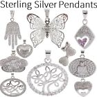 Women's / Girl's Selection of CRYSTAL Sterling SILVER PENDANTS for Women / GIFTS