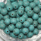 Turquoise Gemstone Round Blue Loose Spacer Beads Jewelry Making 4/6/8/10mm