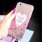 Girl's Luxury Bling Diamond Sparkle Flowing Liquid Glitter Soft Phone Case Cover