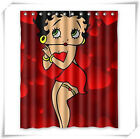 Beautiful Betty Boop Custom Fabric Shower Curtains  100% Polyester Waterproof $18.99 USD