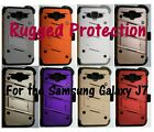 Hybrid Case, Holster, Tempered Glass Screen Protector for Samsung Galaxy J7