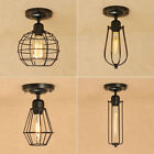 Vintage Style Iron Ceiling Fixture Light Flush Wall Mount An