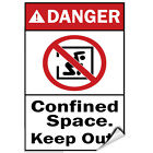 Danger Confined Space Keep Out Hazard Sign Danger Signs LABEL DECAL STICKER