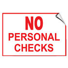 personalized checks free shipping - No Personal Checks Business Store Policy LABEL DECAL STICKER