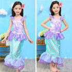 New Little Girls Kids Dress Cosplay Bling Mermaid Princess Party Cosplay Costume