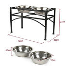 Elevated Raised Pet Dog Feeder Bowl Stainless Steel Food Water Stand Large&Small
