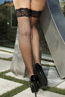 Shirley Of Hollywood Power Fishnet Lace Top Hold Ups Ladies Lingerie Stay Ups