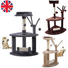 Pet Cat Toy Scratching Post Scratcher Tree Activity Play Centre Climbing Bed UK